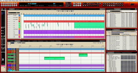 Screenshot Of A Multitrack Recording Session Using Digital Performer 8 DAW.