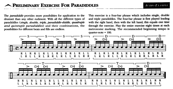 Preliminary Exercise For Paradiddles by Kim Plainfield